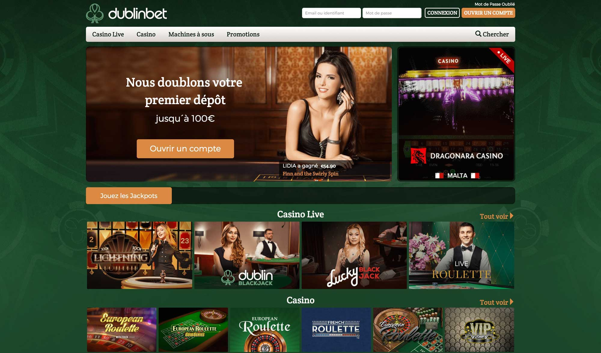 dublinbet casino officiel